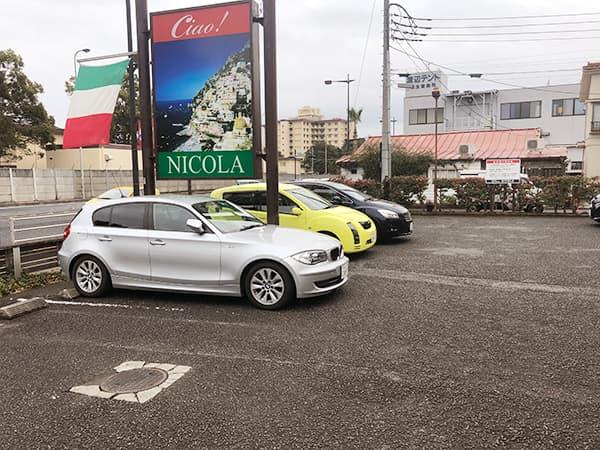 東京 福生 Pizza&イタリアンレストラン NICOLA 駐車場