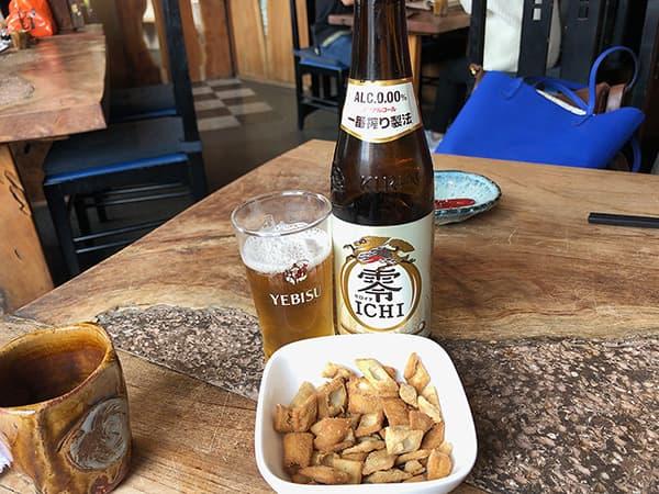 東京 亀有 吟八亭 やざ和 ノンアルコールビール