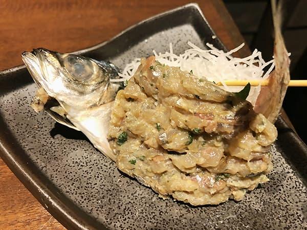 東京 池袋 47都道府県の日本酒勢揃い 富士喜商店 池袋本店|鮮魚のなめろう