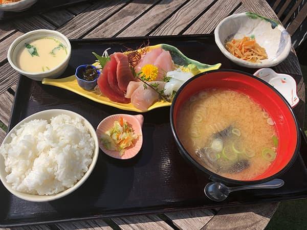 神奈川 三浦 松輪 刺身定食3種盛り