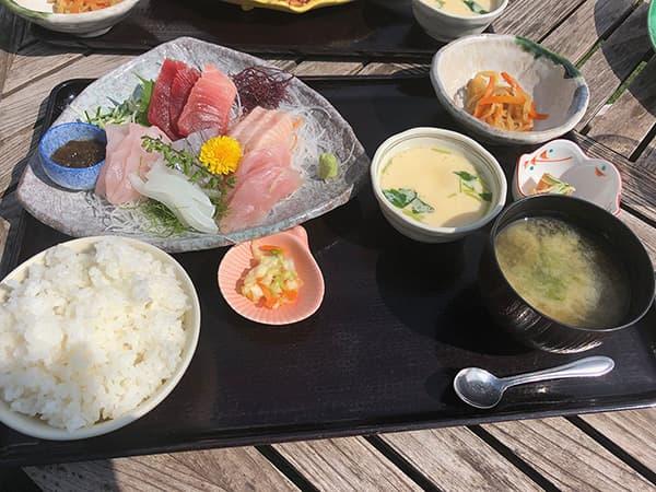 神奈川 三浦 松輪 刺身定食5種盛り