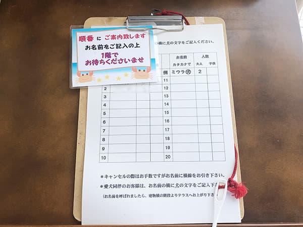 神奈川 三浦 松輪|受付票