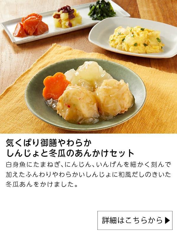 ニチレイフーズダイレクト|気くばり御膳やわらか しんじょと冬瓜のあんかけセット