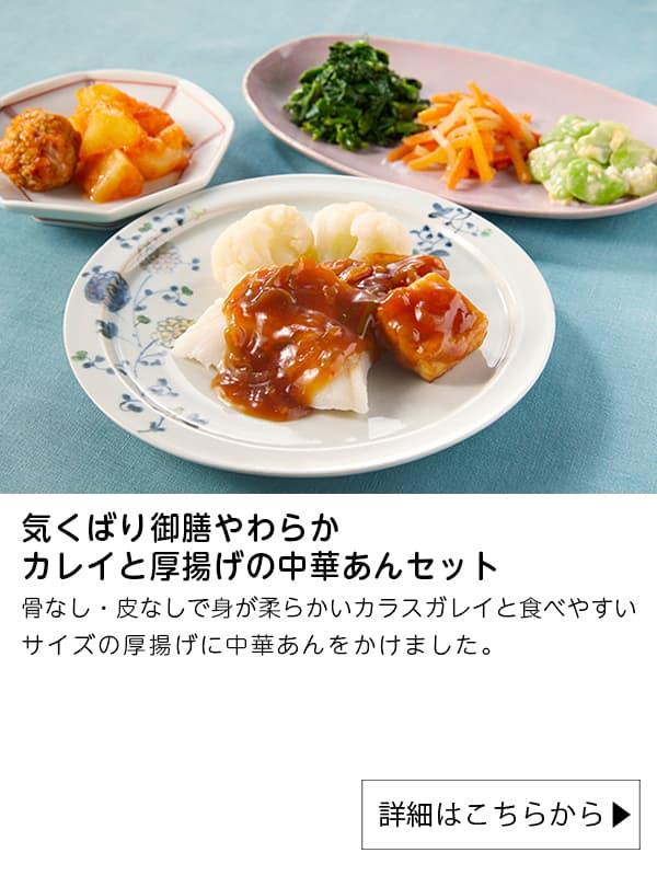 ニチレイフーズダイレクト|気くばり御膳やわらか カレイと厚揚げの中華あんセット