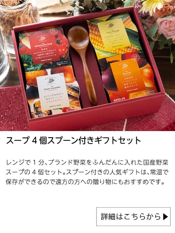 スープ 4個スプーン付きギフトセット|野菜をMotto!!