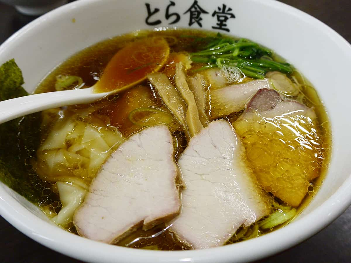 福島 白河 とら食堂|焼豚ワンタン麺