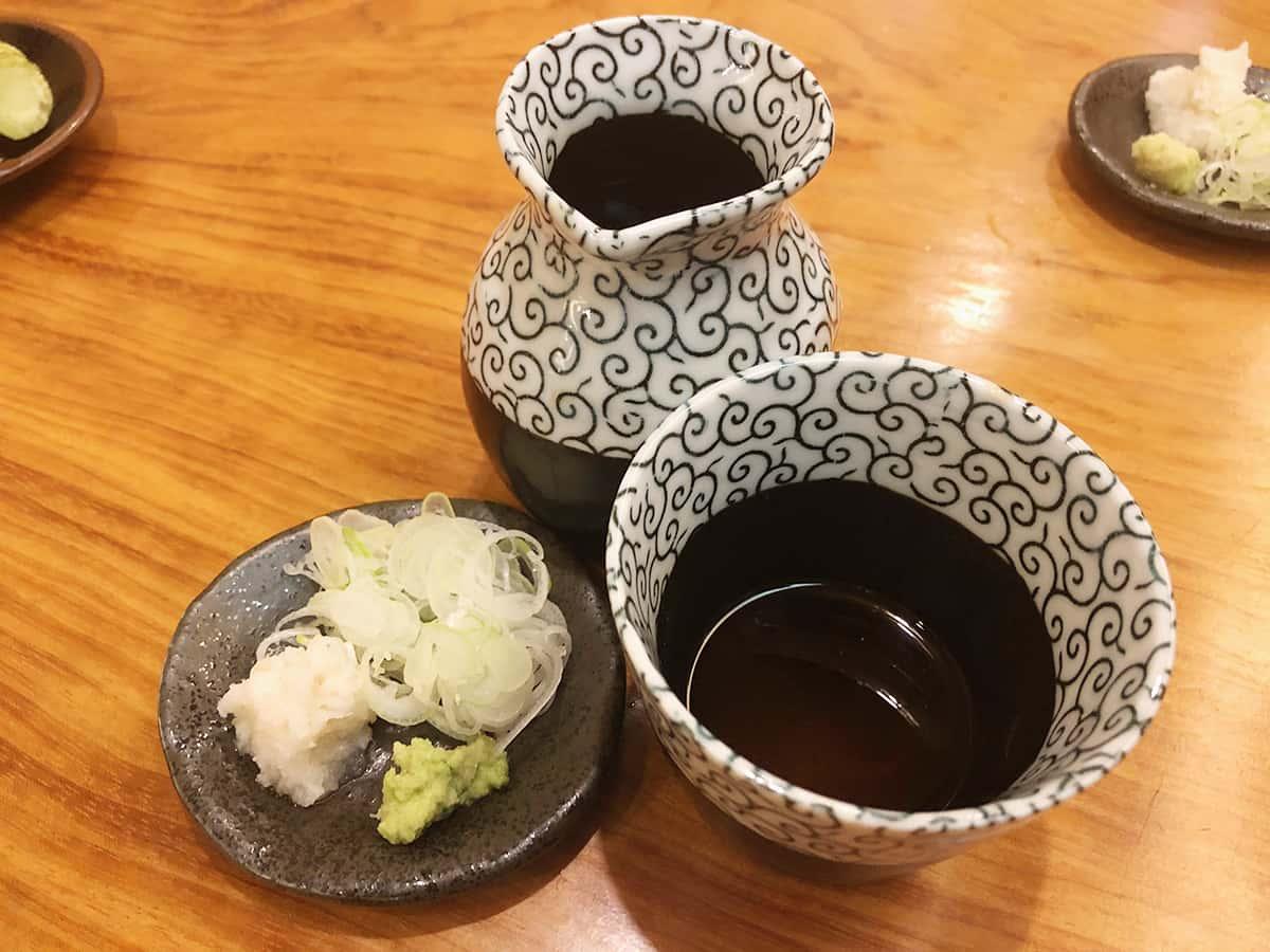 東京 朝霞 松月庵|薬味とそばつゆ