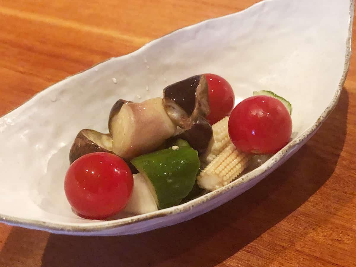 東京 新宿 晴京|彩り野菜の浅漬け