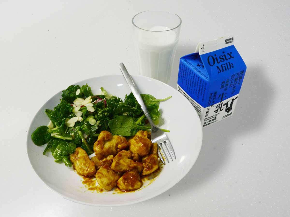 タンドリーチキンとケールのチーズナッツサラダ|kit oisix