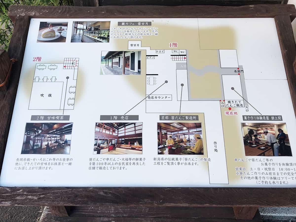 新潟 長岡 江口だんご|案内図