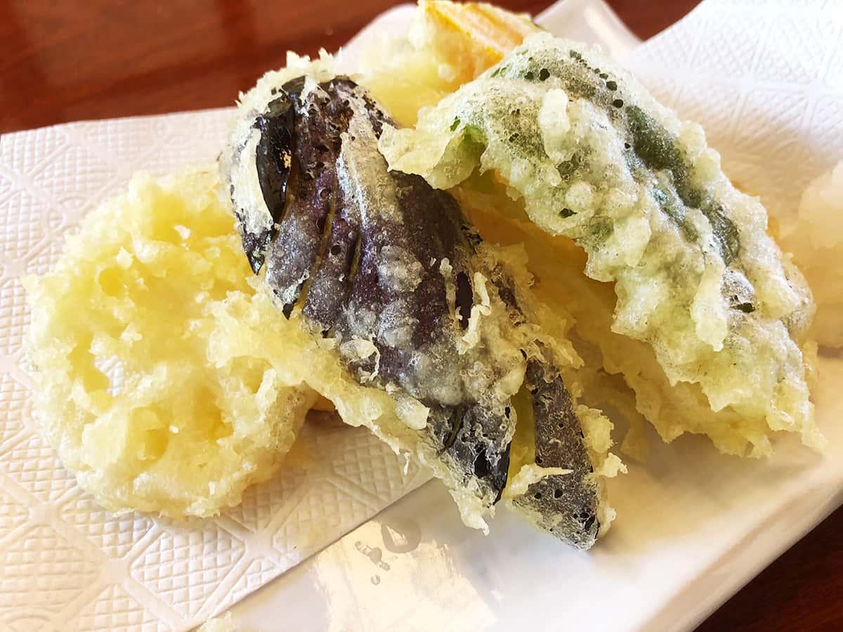 新潟 魚沼 そば屋 長森|野菜天ぷら盛り合わせ