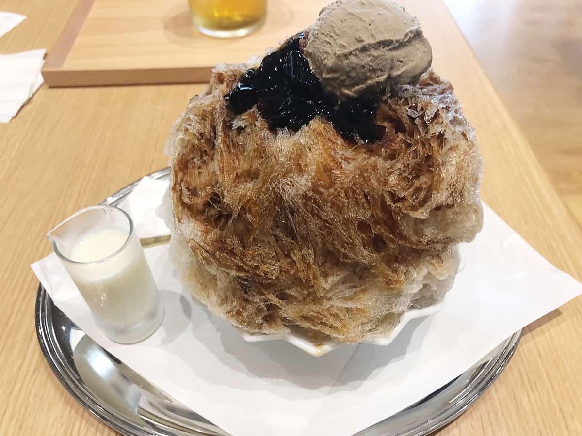 神奈川 鎌倉 鎌倉文華館 鶴岡ミュージアム カフェ|コーヒーゼリーとほうじ茶アイスのかき氷