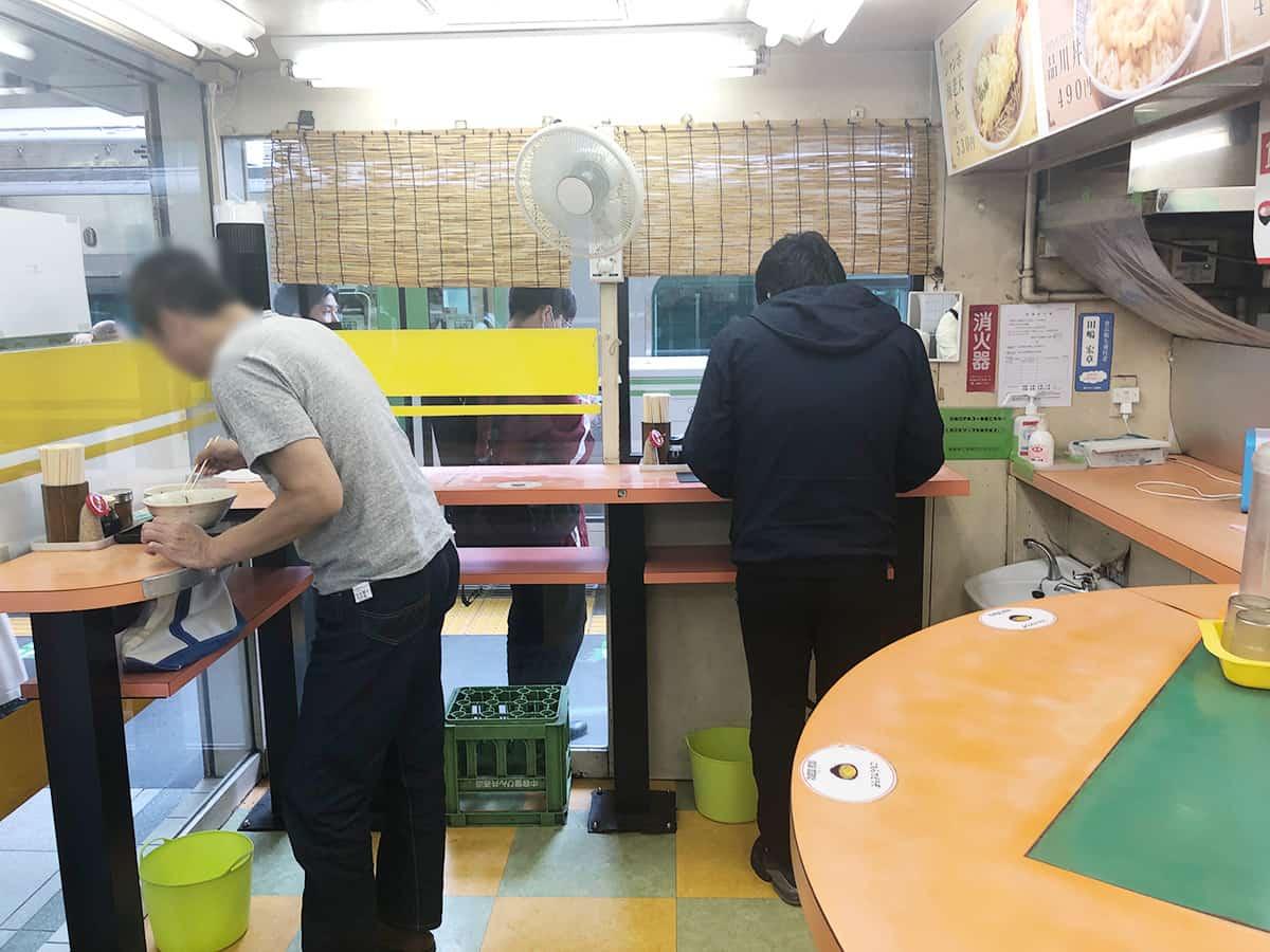 東京 品川 そば処 常盤軒 店内