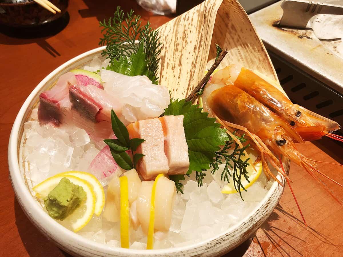 東京 上野 博多前炉ばた 一承 東京上野|刺身5種盛り合わせ