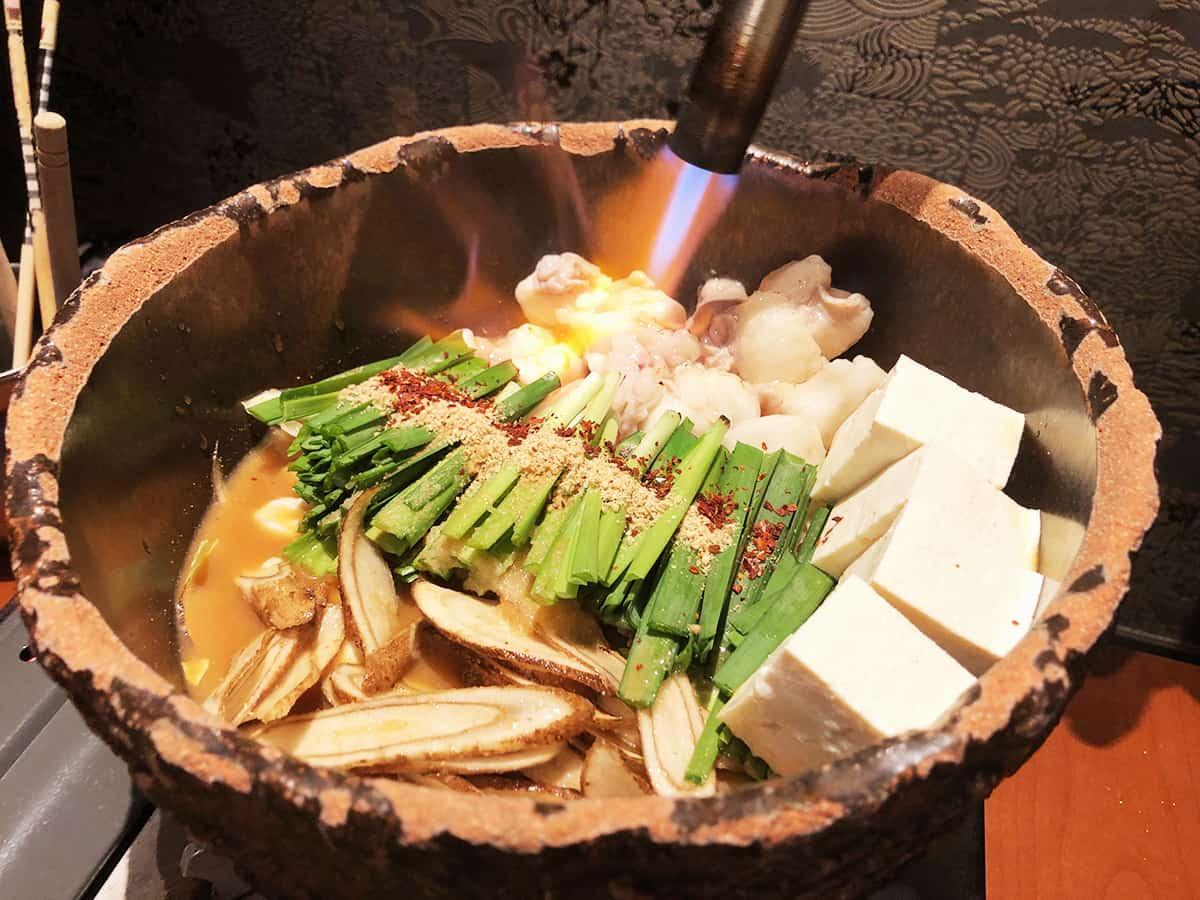 東京 上野 博多前炉ばた 一承 東京上野 炙り味噌モツ鍋