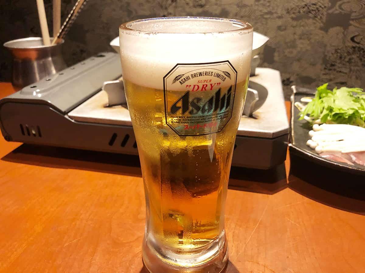 東京 上野 博多前炉ばた 一承 東京上野 生ビール