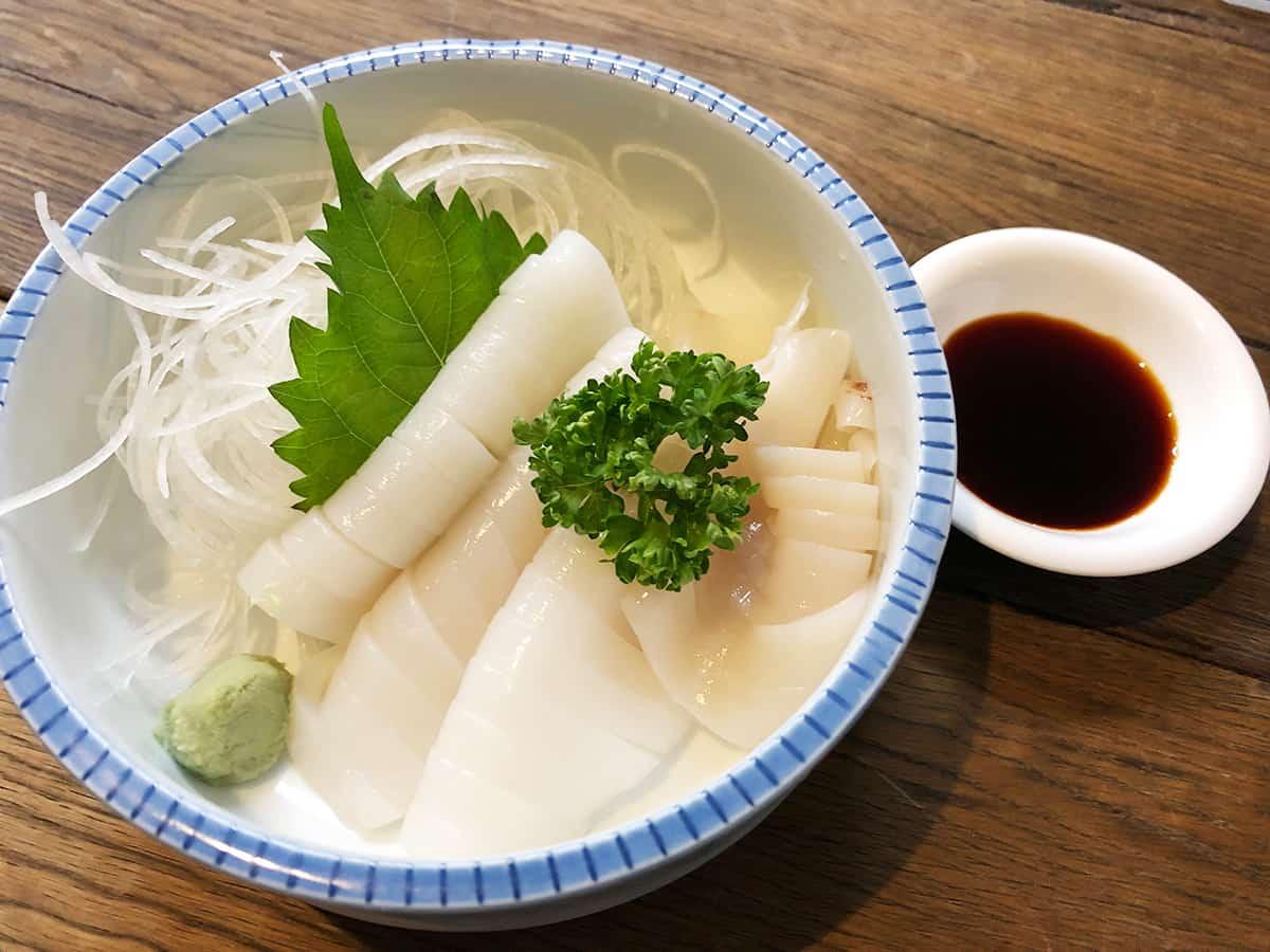 北海道 富良野 くまげら|イカの刺身