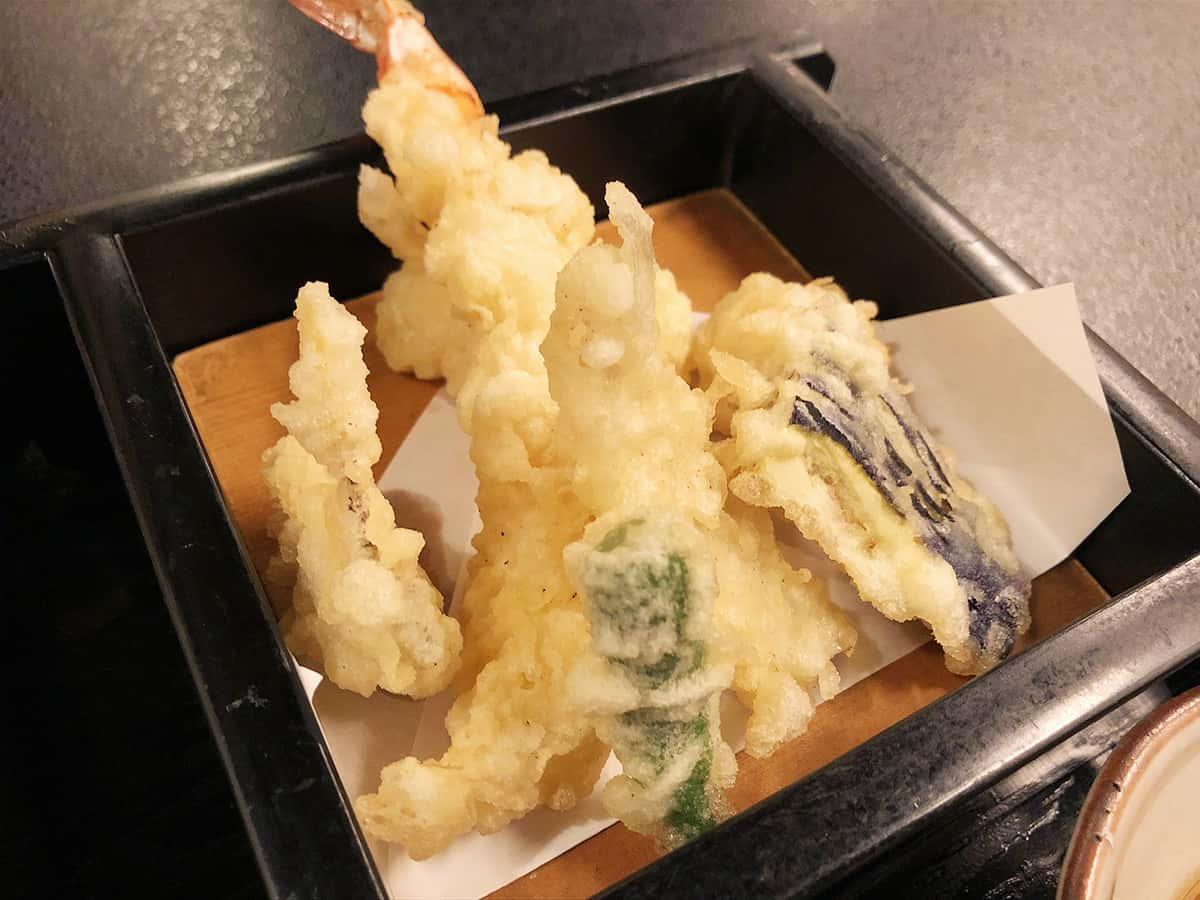 北海道 小樽 蕎麦 籔半|天ぷら