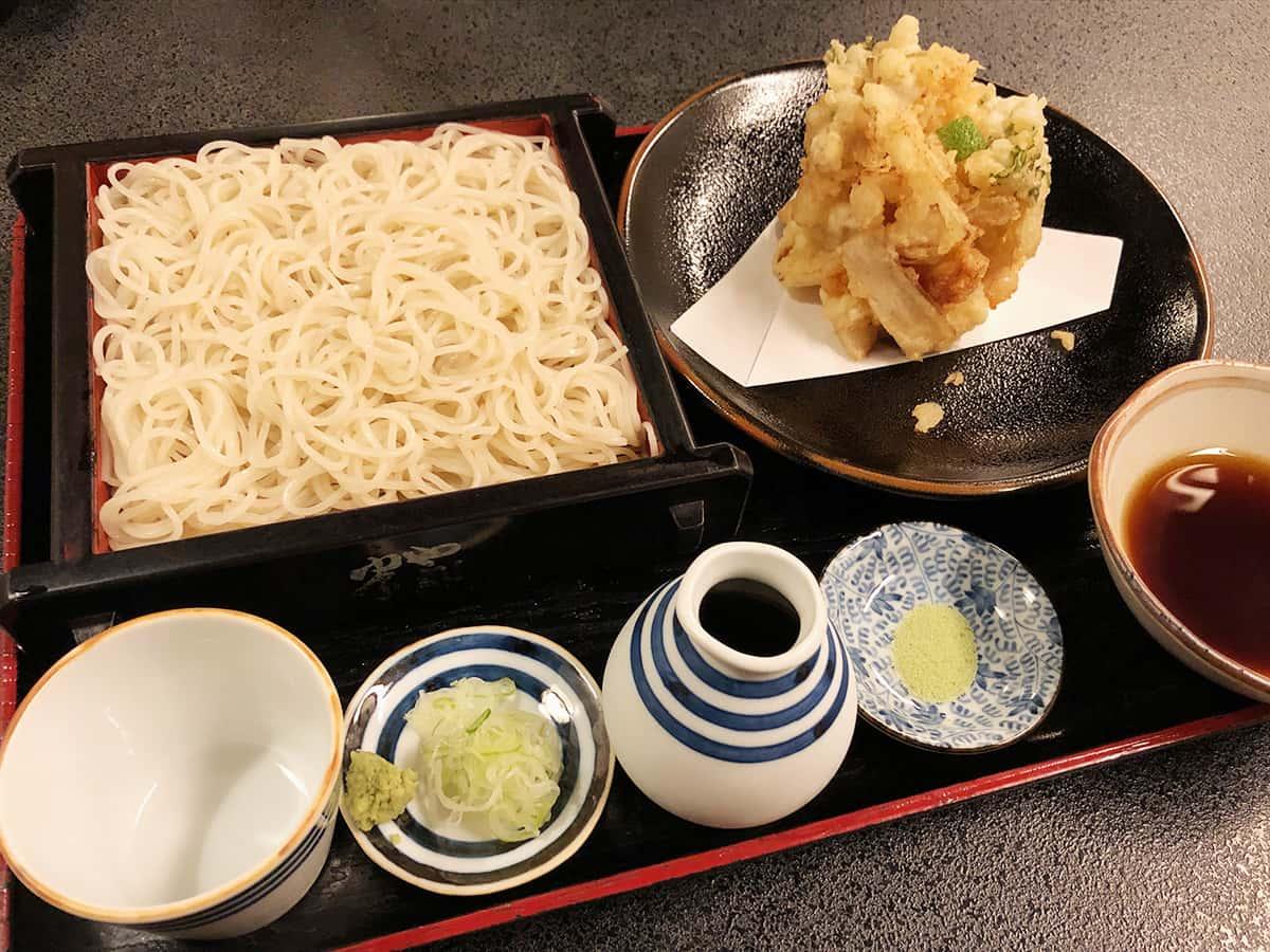 北海道 小樽 蕎麦 籔半|かきあげせいろ