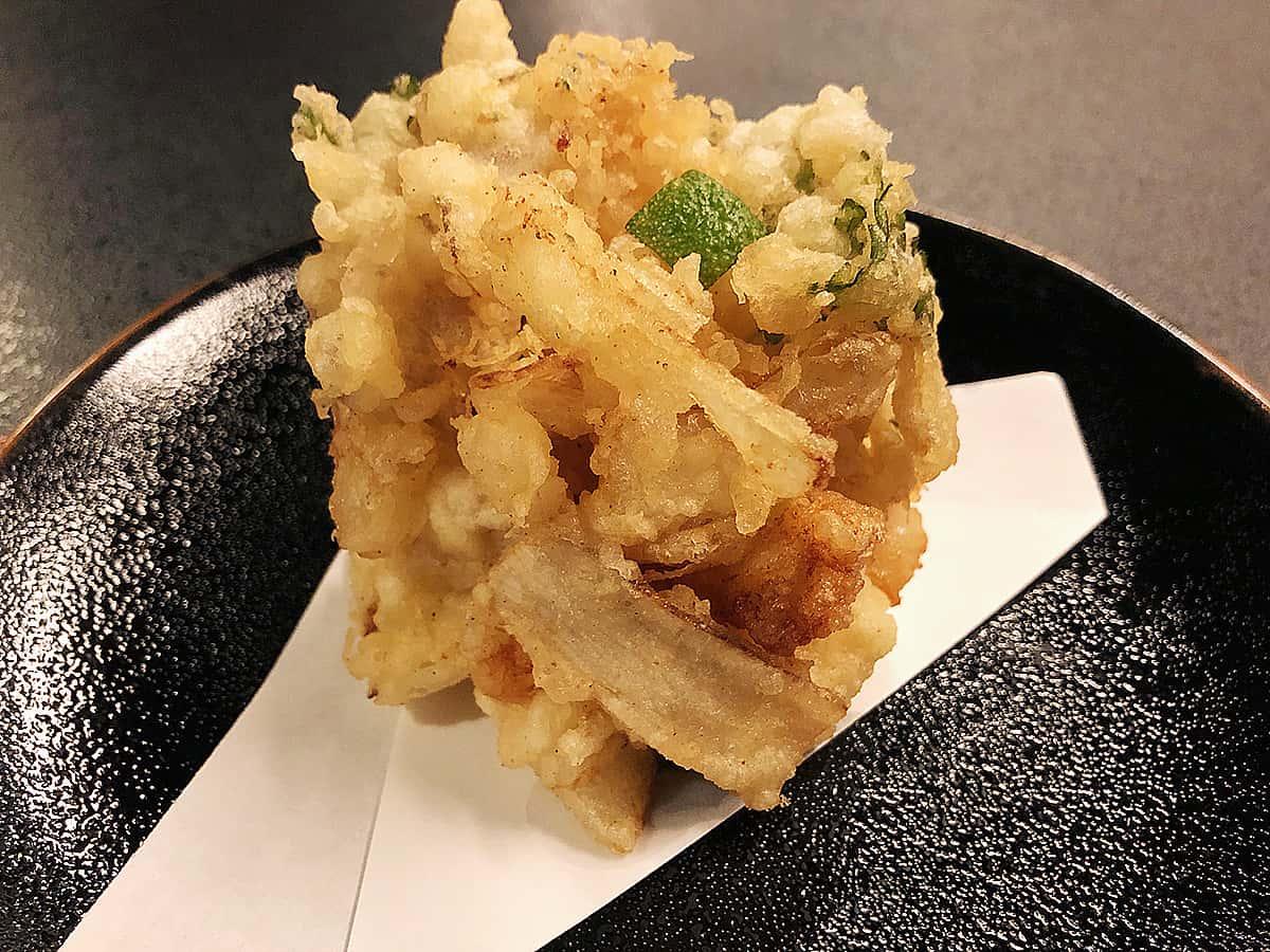北海道 小樽 蕎麦 籔半|かき揚げ