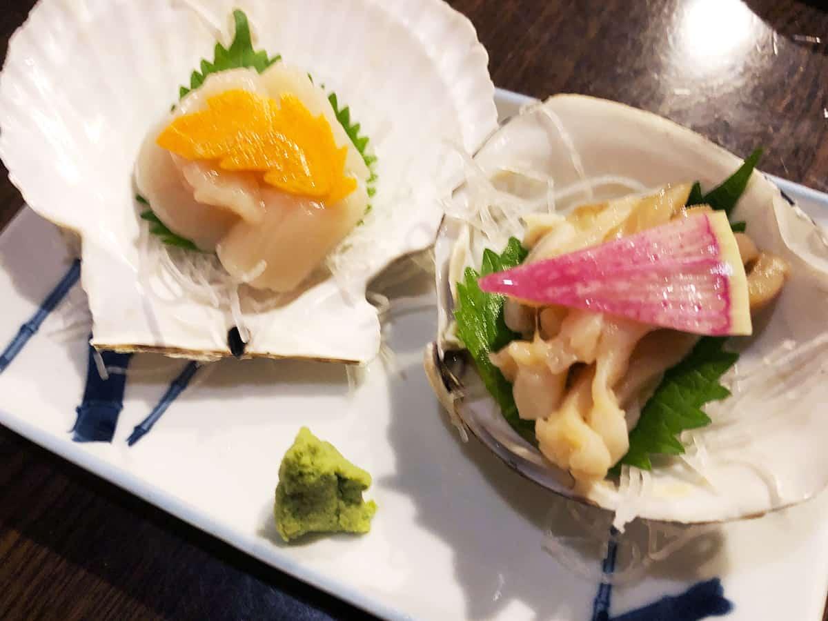 北海道 すすきの 磯金 漁業部 枝幸港 北海貝二種盛り