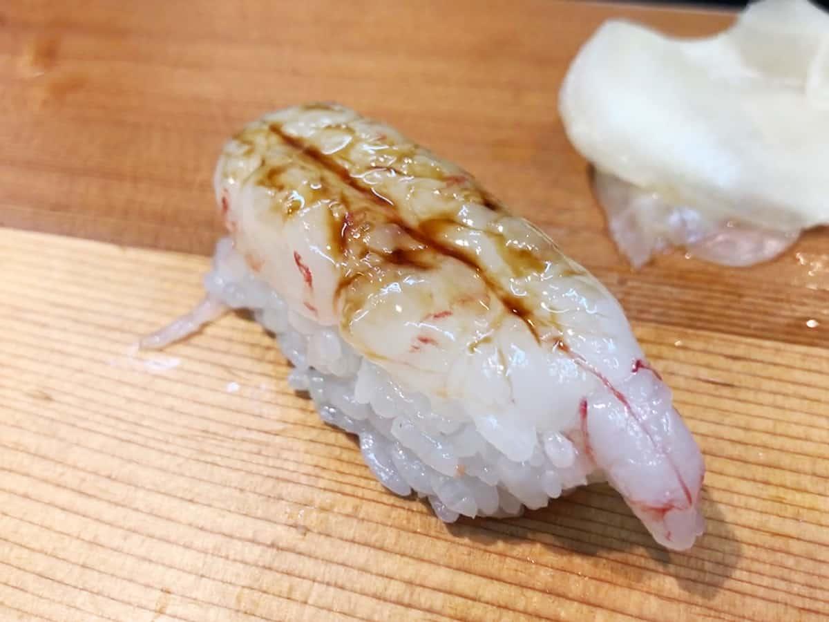 北海道 さっぽろ朝市 鮨の魚政|ボタンエビ