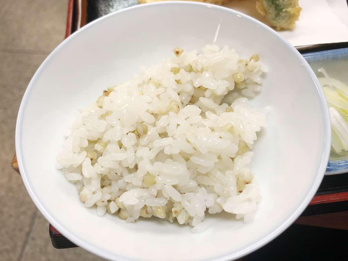 東京 日本橋 薮伊豆総本店 そばの実のご飯