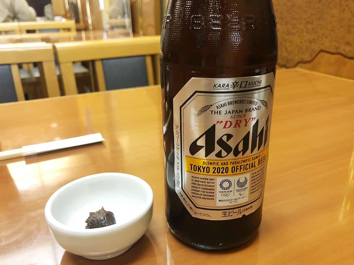 東京 日本橋 薮伊豆総本店 ビール中瓶