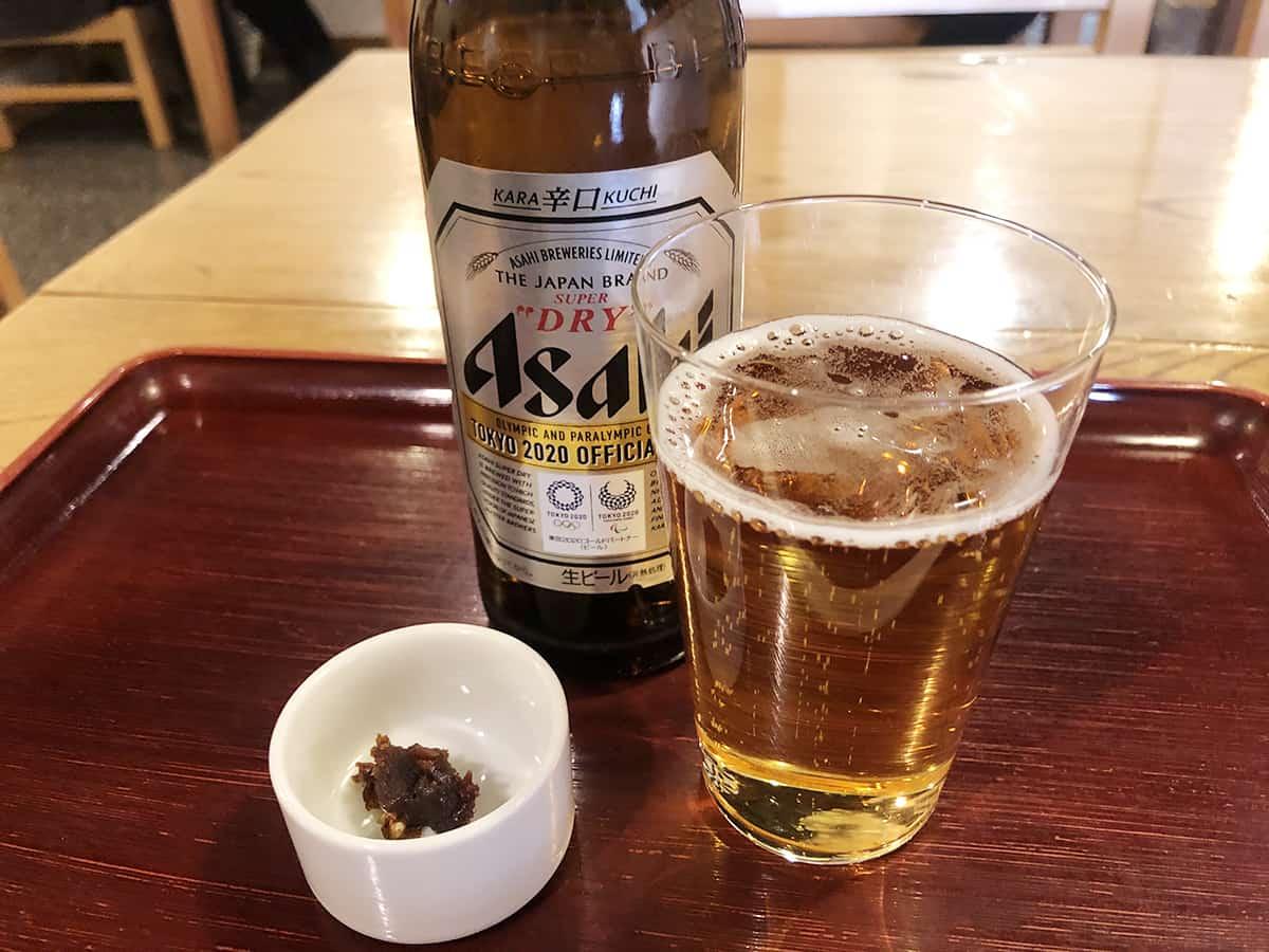 東京 浅草 吾妻橋 やぶそば|ビール