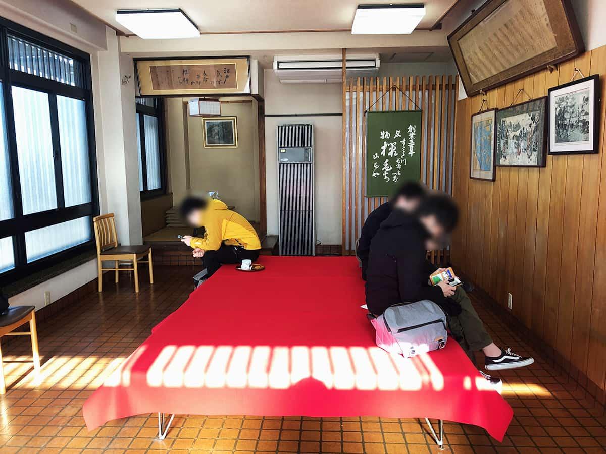 0702 東京 向島 長命寺 桜もち 飲食スペース