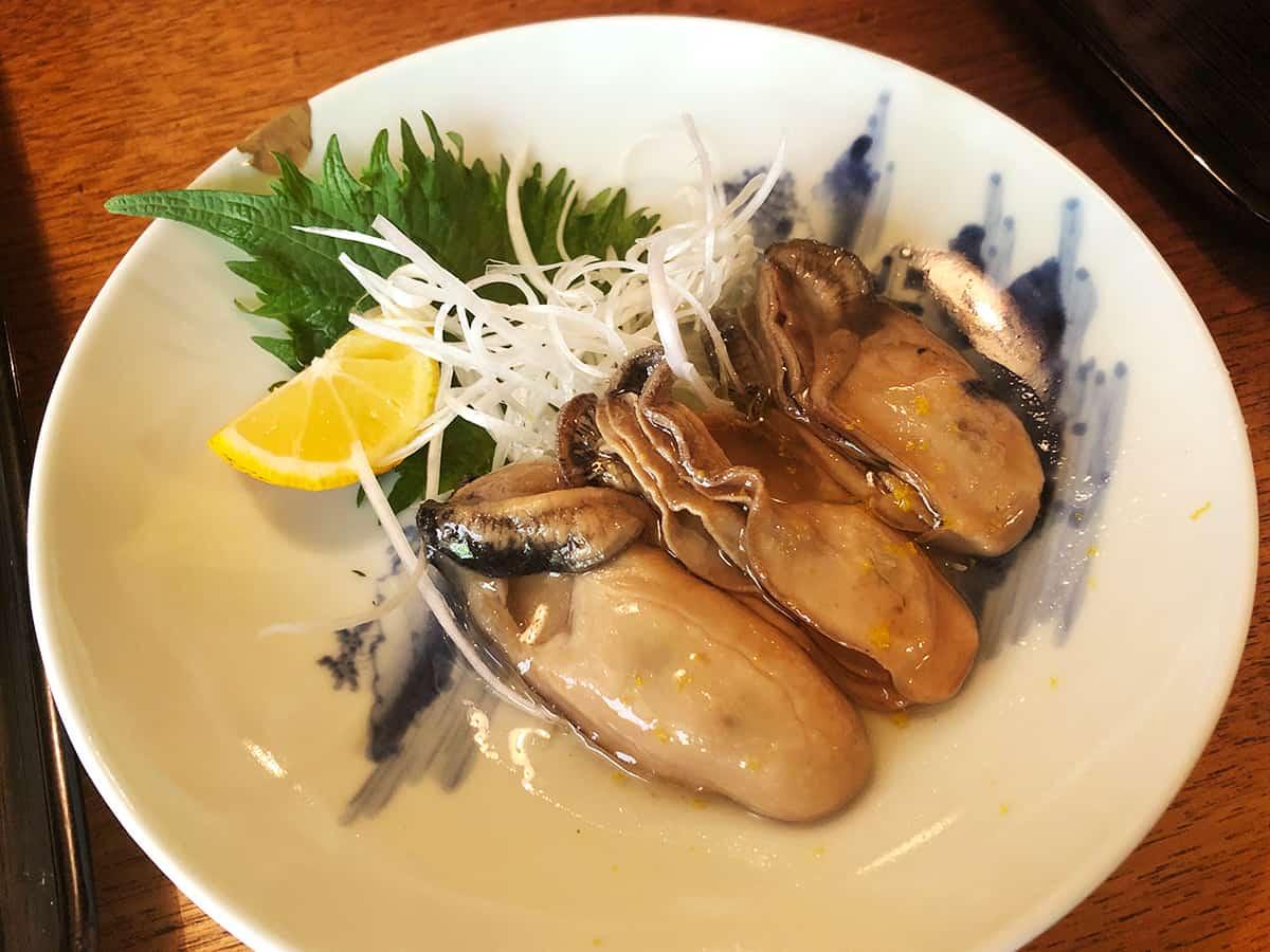東京 両国 江戸蕎麦ほそ川|かきオイル漬け