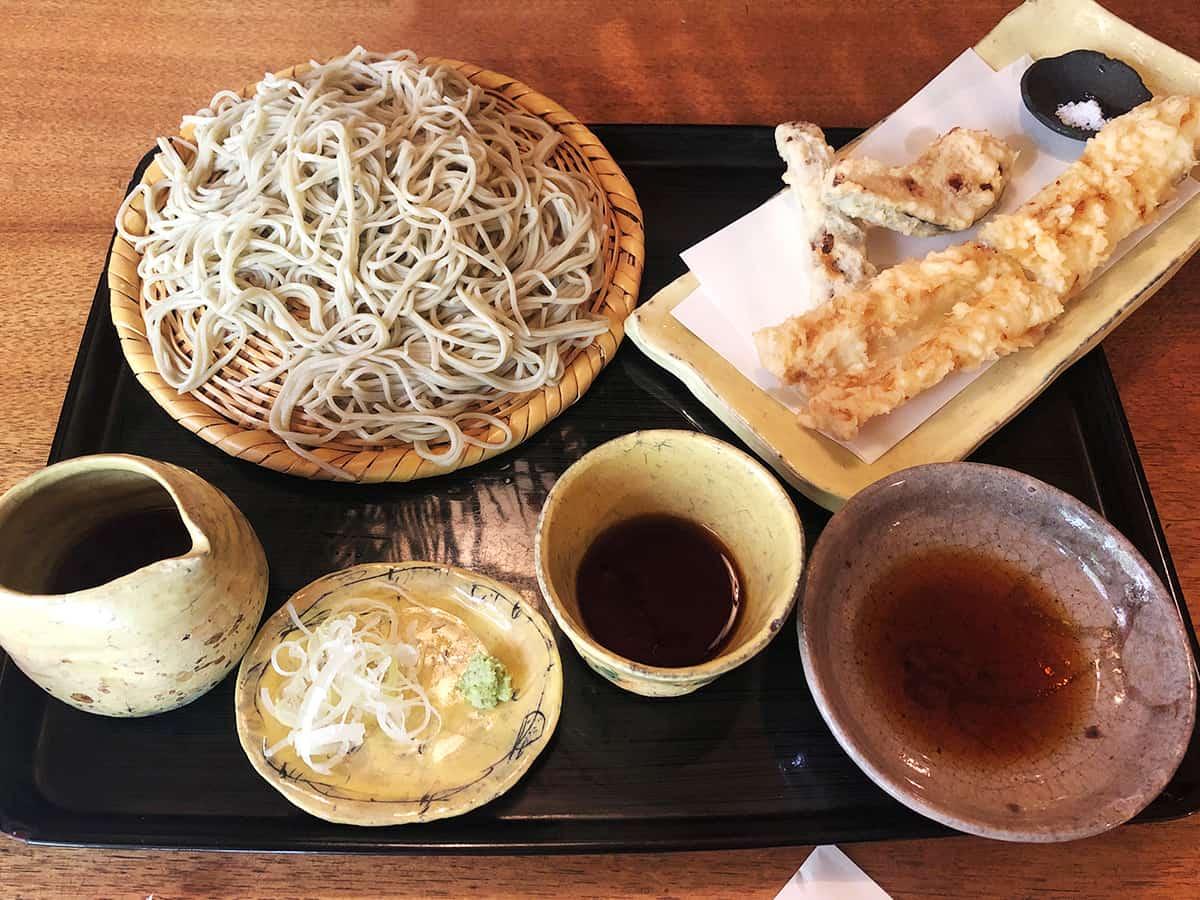 東京 両国 江戸蕎麦ほそ川|穴子の天せいろ