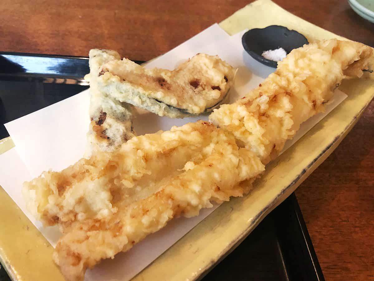 東京 両国 江戸蕎麦ほそ川|穴子の天ぷら