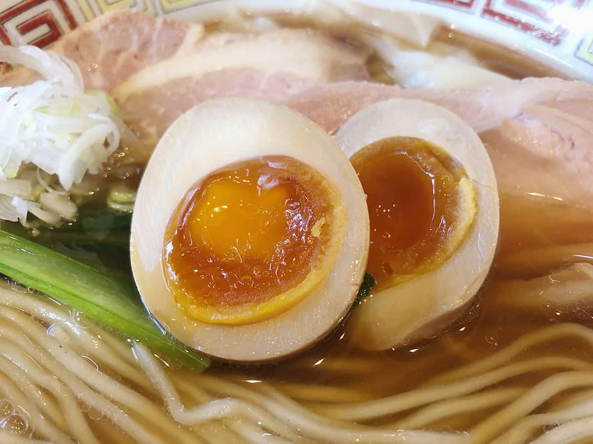 東京 八王子 ほっこり中華そば もつけ|味玉