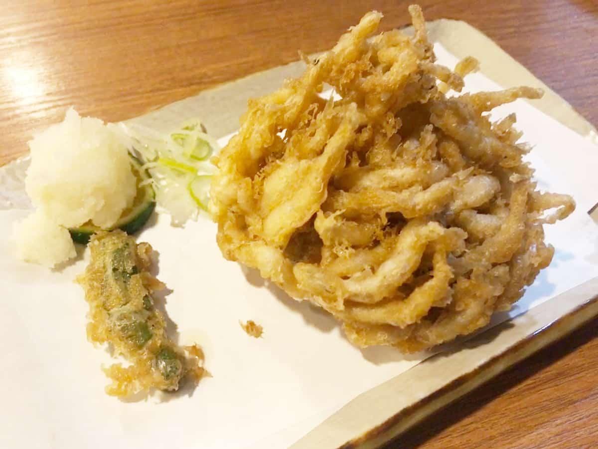 東京 大森 布恒更科|白魚の天ぷら