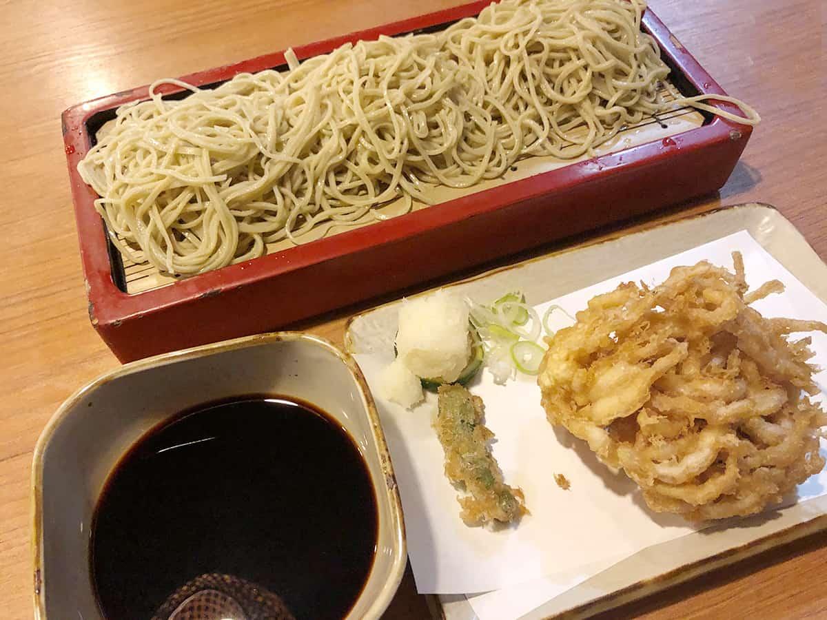 東京 大森 布恒更科|白魚の天ぷらそば