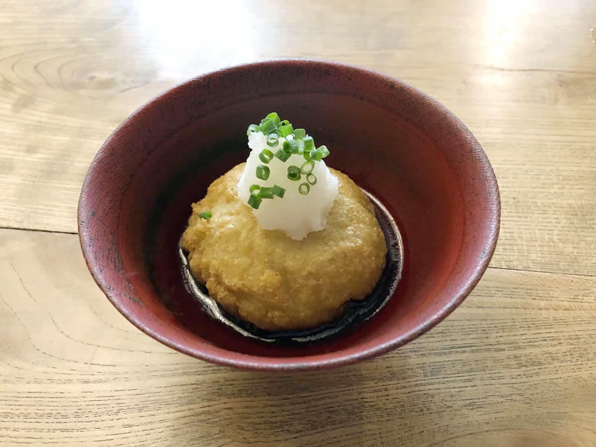 東京 八王子 蕎麦 坐忘|揚げ蕎麦がき