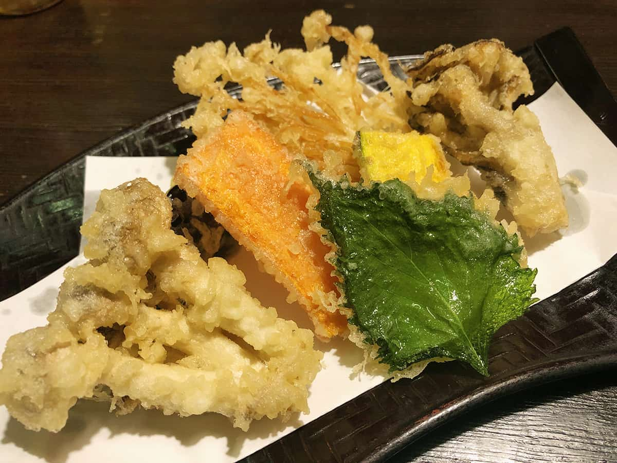 0738 東京 吉祥寺 手打ちそば ほさか |野菜天ぷら