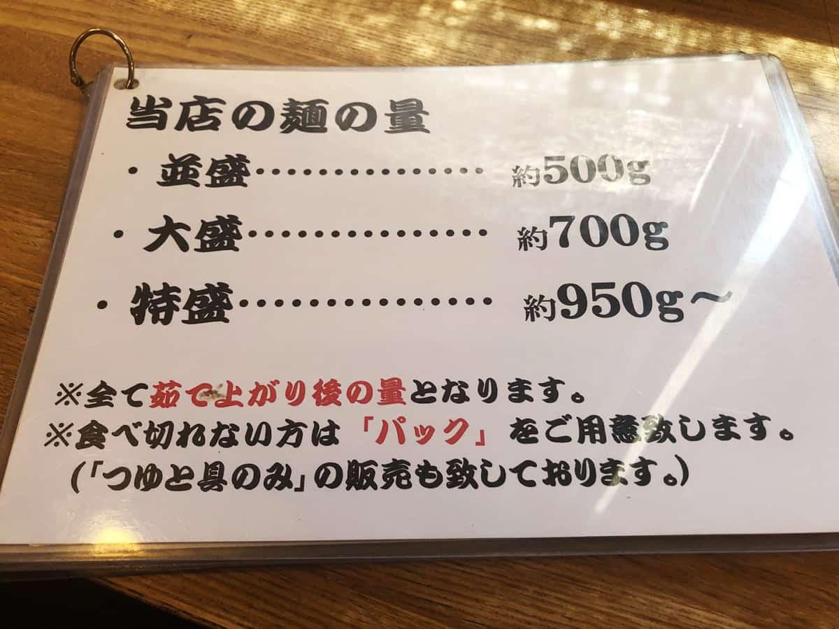 埼玉 川越 元祖武蔵野うどん めんこや 本店|麺の量