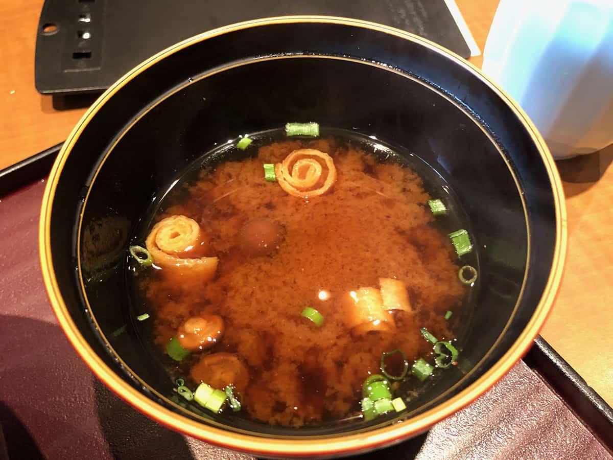東京 秋葉原 天ぷら ひさご|味噌汁