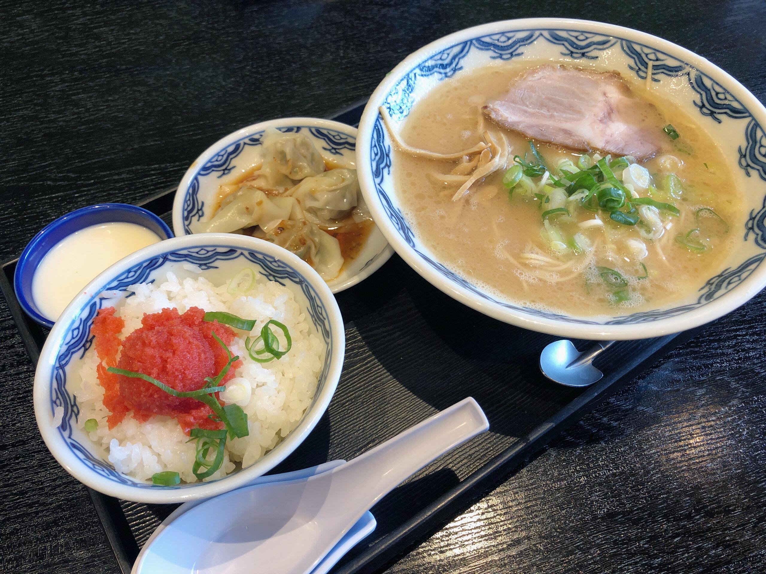 東京 丸の内 博多麺房 赤のれん 丸ビル店|明太子ご飯セット