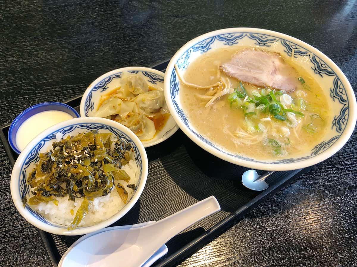 東京 丸の内 博多麺房 赤のれん 丸ビル店|高菜ご飯セット