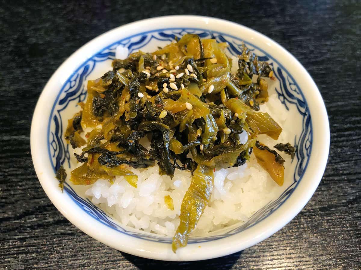 東京 丸の内 博多麺房 赤のれん 丸ビル店|高菜ご飯