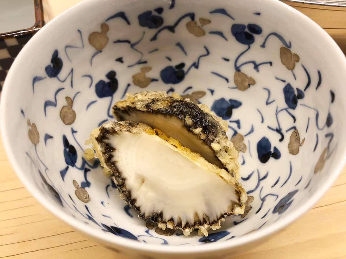 東京 神保町 てんぷらと和食 山の上|舞茸の芽