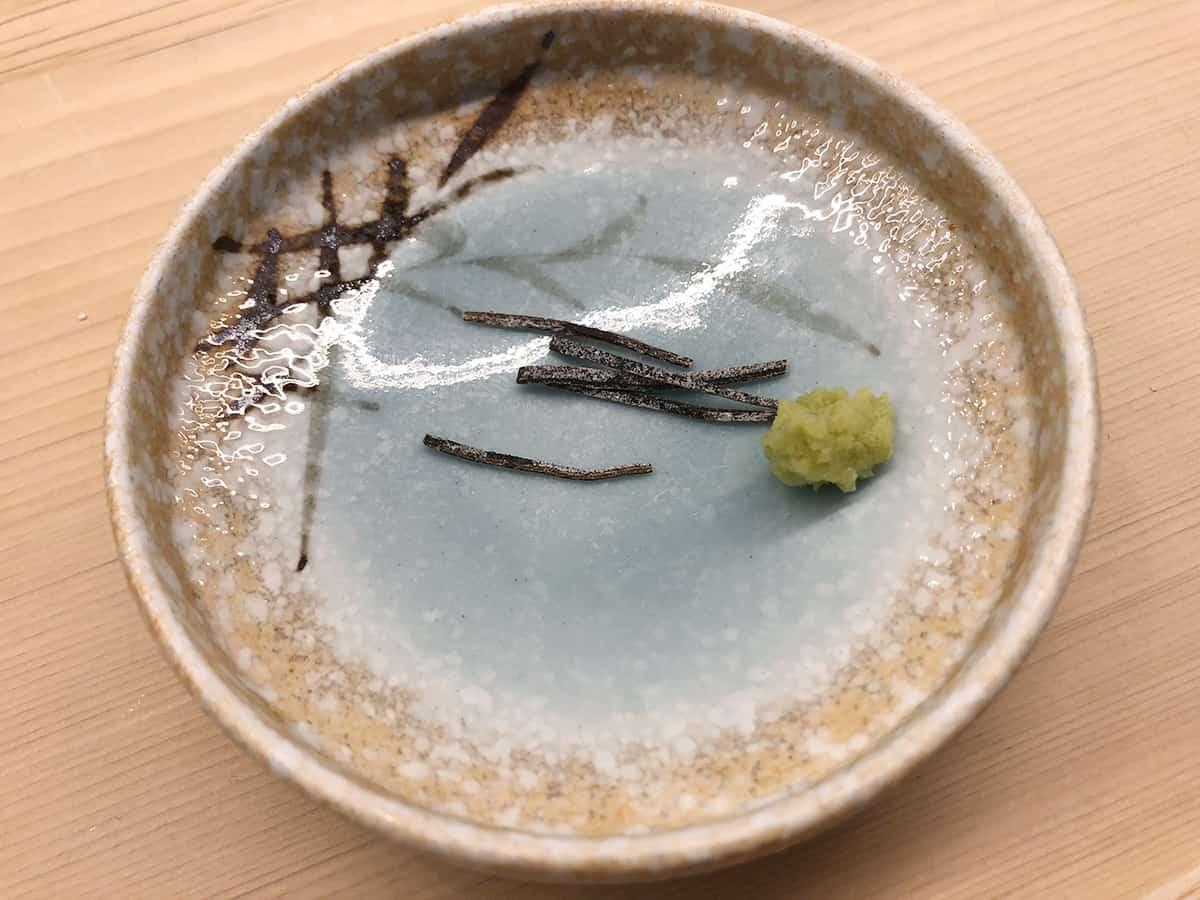 東京 神保町 てんぷらと和食 山の上|昆布とわさび