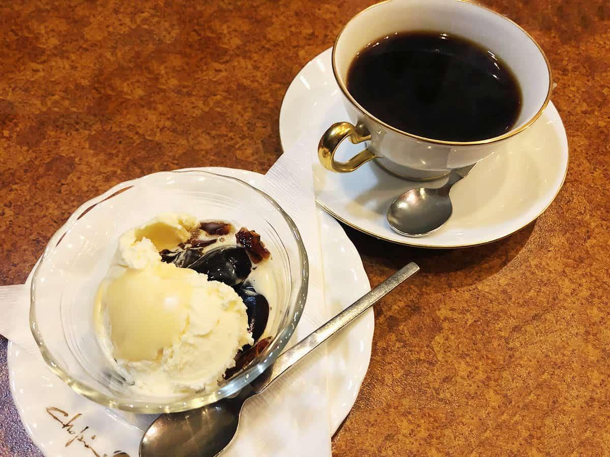 東京 神田 珈琲ショパン|コーヒーゼリー&アイスクリームセット