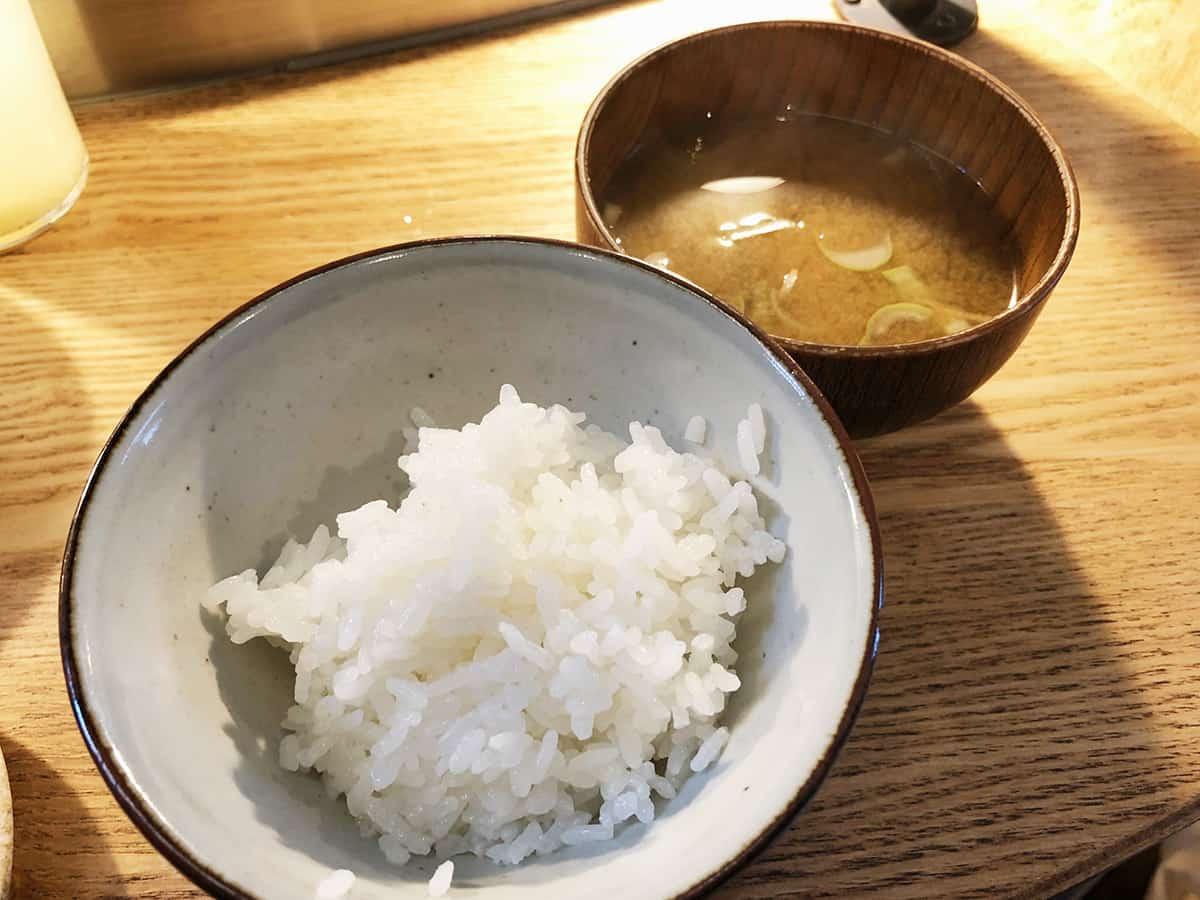 東京 吉祥寺 挽肉と米|ご飯と味噌汁