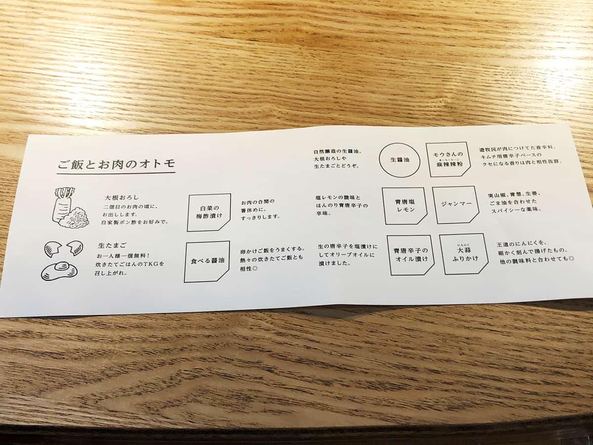 東京 吉祥寺 挽肉と米|説明書