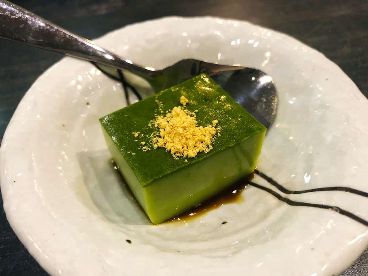 東京 立川 天ぷら わかやま|抹茶のムース