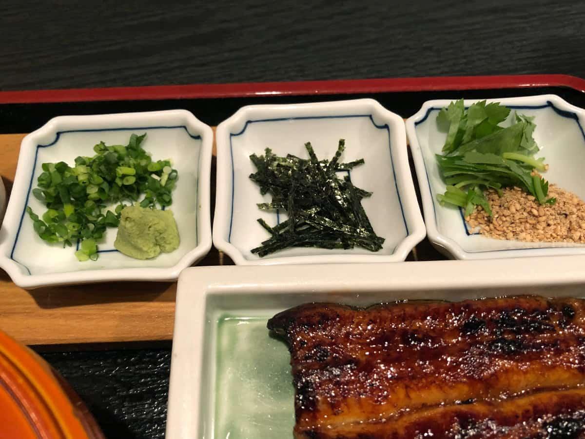 静岡 浜松 うなぎ藤田 浜松駅前店|薬味